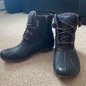 Sperry Black Waterproof Duck Boots